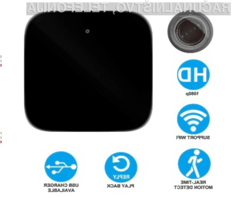 Odlikuje jo kompaktna zunanjost in to, da je prenosna, kar nudi dodatne možnosti postavljanja same kamere.