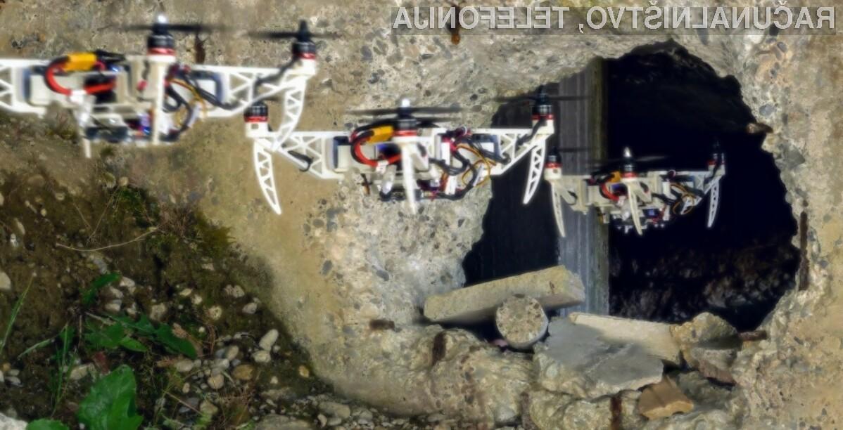 Namenski dron švicarskih strokovnjakov svojo obliko prilagaja trenutnim razmeram na terenu.