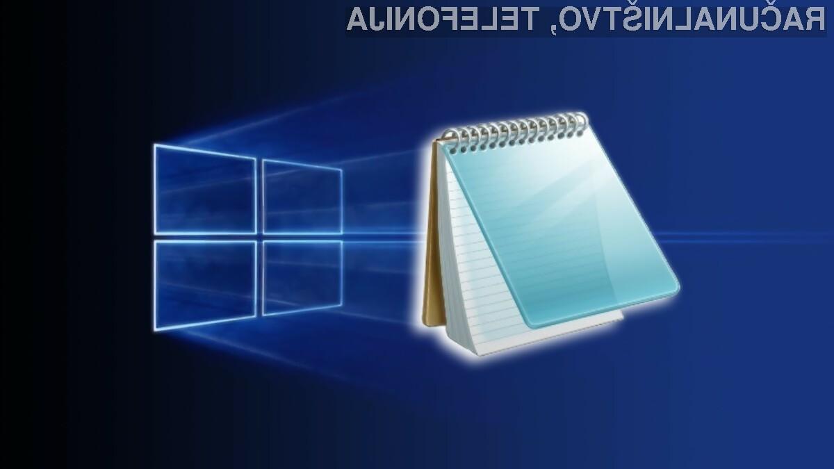 Nova Beležnica (Notepad) bo prinesla še zvrhan kup uporabnih možnosti.