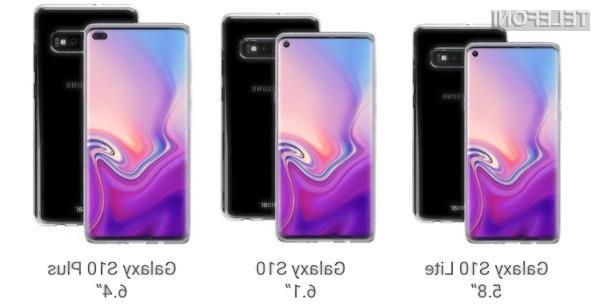 Samsung naj bi predstavil kar pet zanimiv različic pametnega mobilnega telefona Galaxy S10.