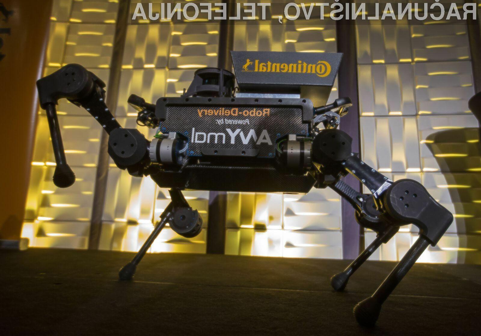 Dostavni robot ANYbotics ANYmal lahko opravi dostavo tudi na najbolj nedostopna območja.
