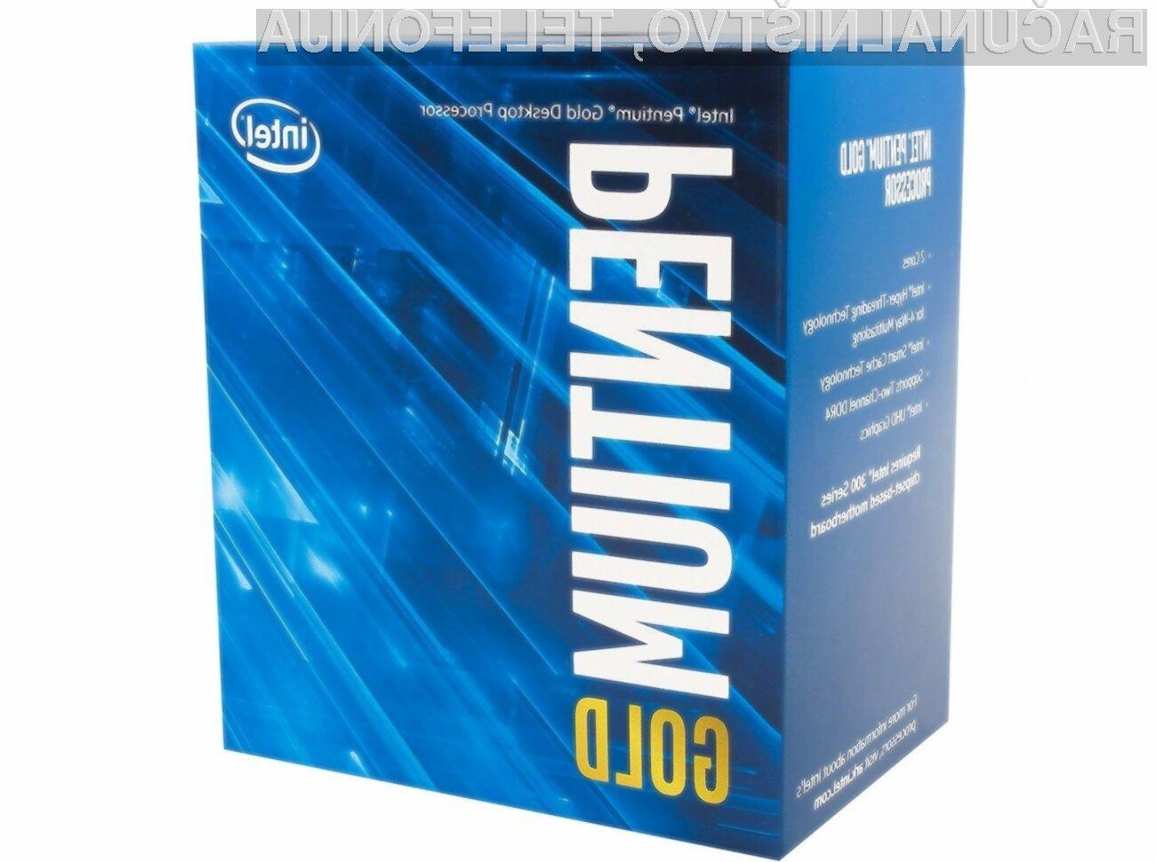 Za novi procesor Intel Pentium Gold G5620 bo treba odšteti le okoli 100 evrov.