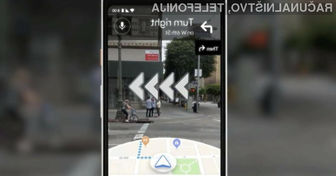 Razširjena resničnost se odlično ujame z navigacijskim sistemom Google Maps.