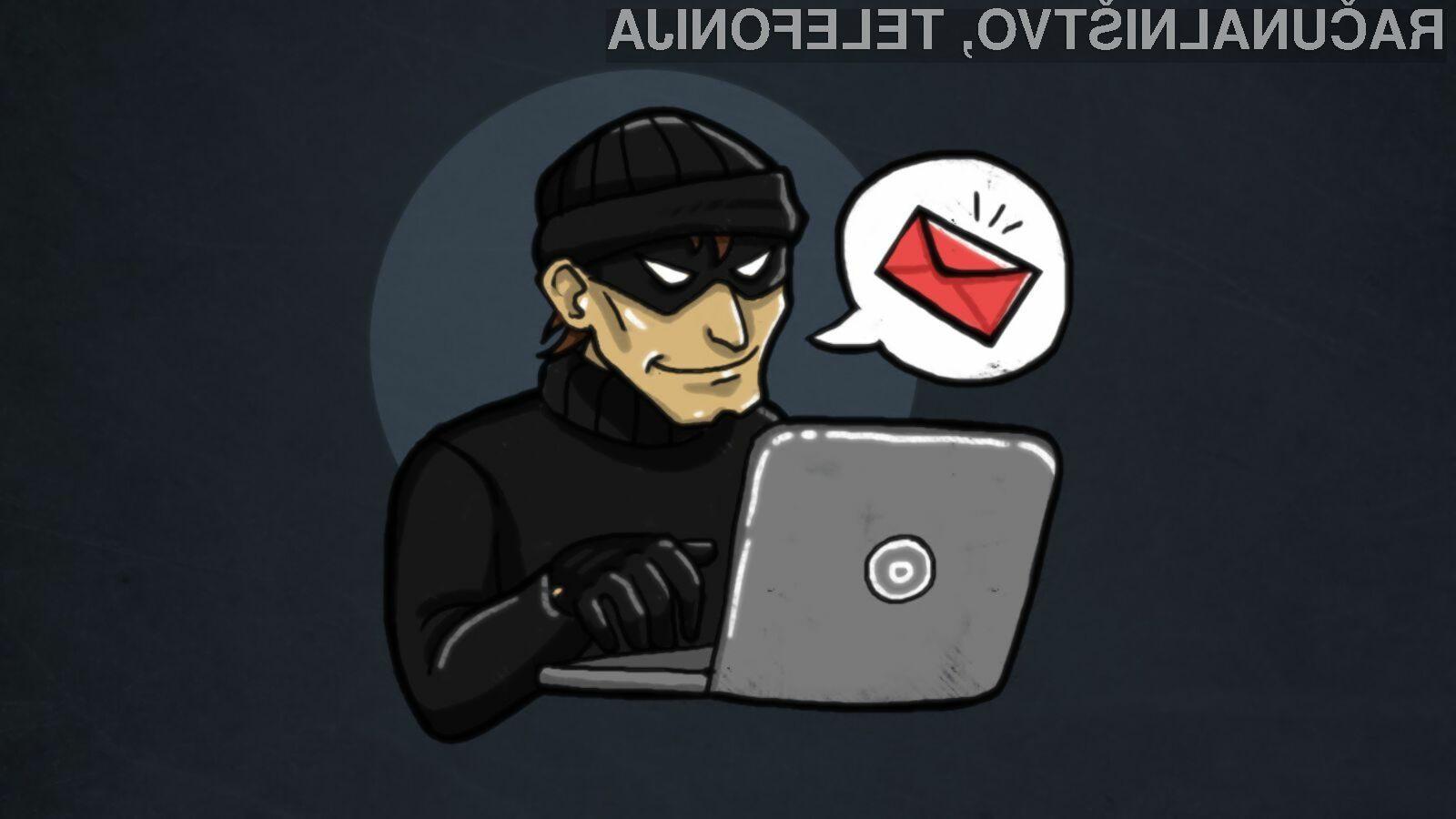 Nikar ne nasedajte izsiljevalskim elektronskim sporočilom!