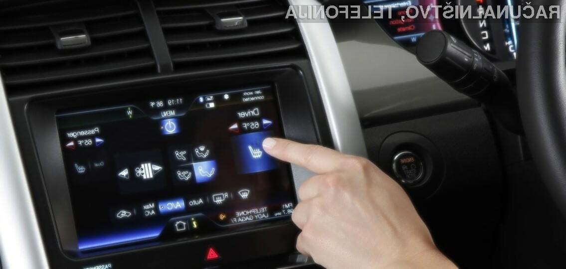 Na dotik občutljive nadzorne plošče v sodobnih avtomobilih so lahko tudi razlog za povzročitev prometne nesreče.