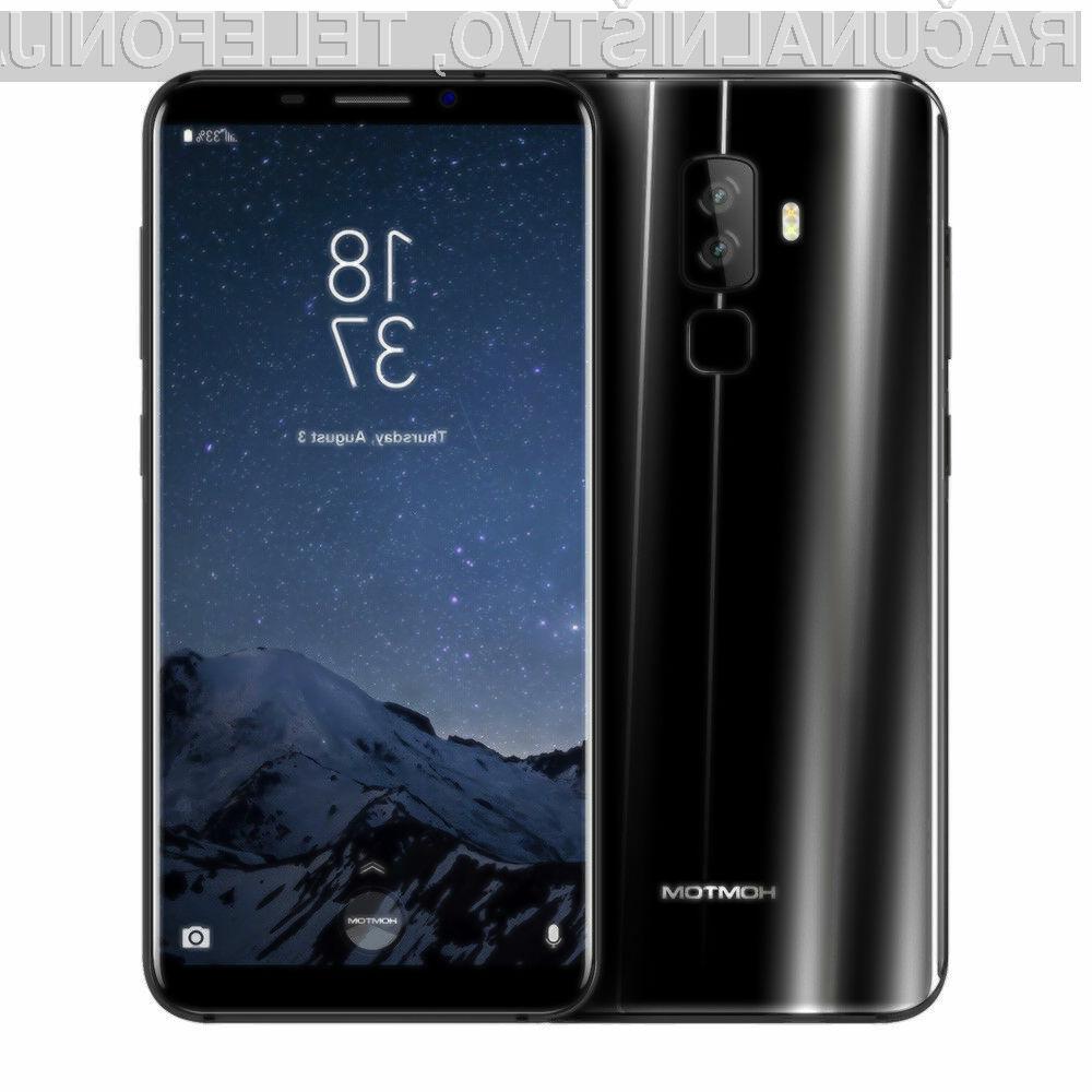 Zanimivi pametni mobilni telefon HOMTOM S8 je lahko naš že za zgolj 109,99 evrov.