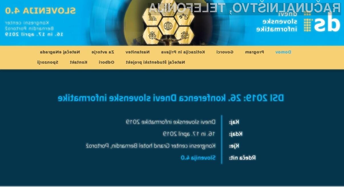 Rdeča nit konference Slovenija 4.0 ponazarja širši pogled na dogajanje v svetu in razmislek o možnostih, kako bi aktualne trende izkoristili kot spodbudo za razvoj doma.