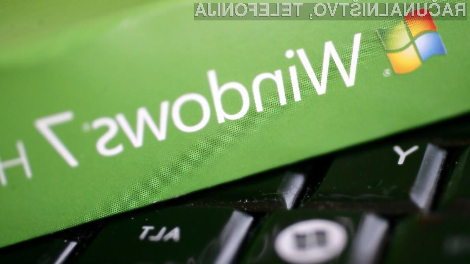 Podpora za zastareli Windows 7 bo zagotovljena le še do 14. januarja prihodnjega leta.
