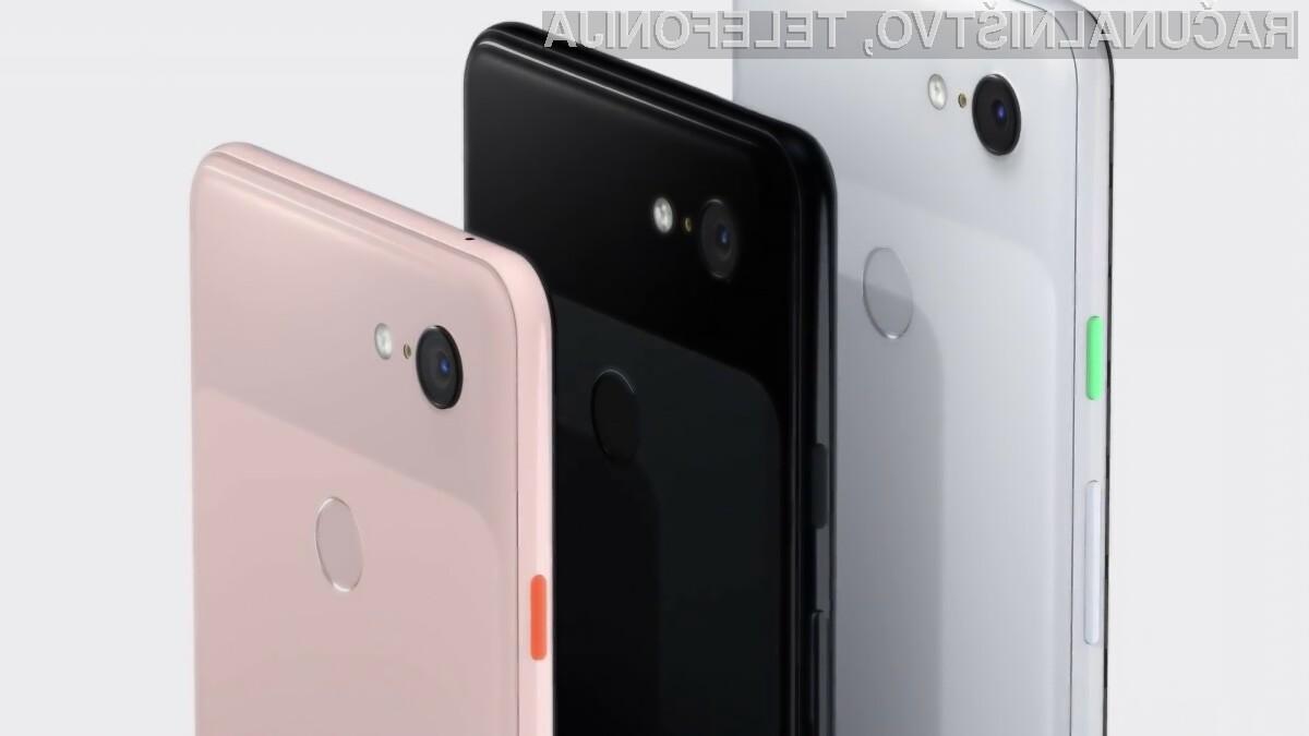 Cenejša telefona družine Google Pixel 3 naj bi bila naprodaj še pred poletjem.