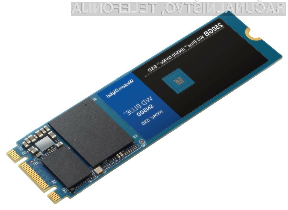 Novi pogon Blue SN500 podjetja Western Digital za malo denarja ponuja veliko.