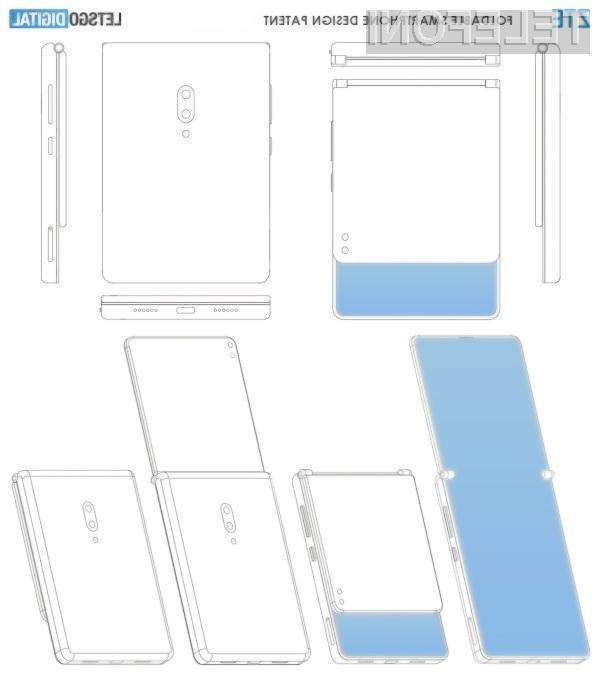 Prepogljivi zasloni so primerni tudi za preklopne telefone.