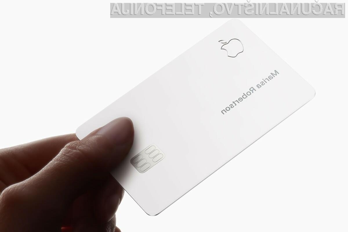 Prva fizična kreditna kartica podjetja Apple bo izdelana iz titana.