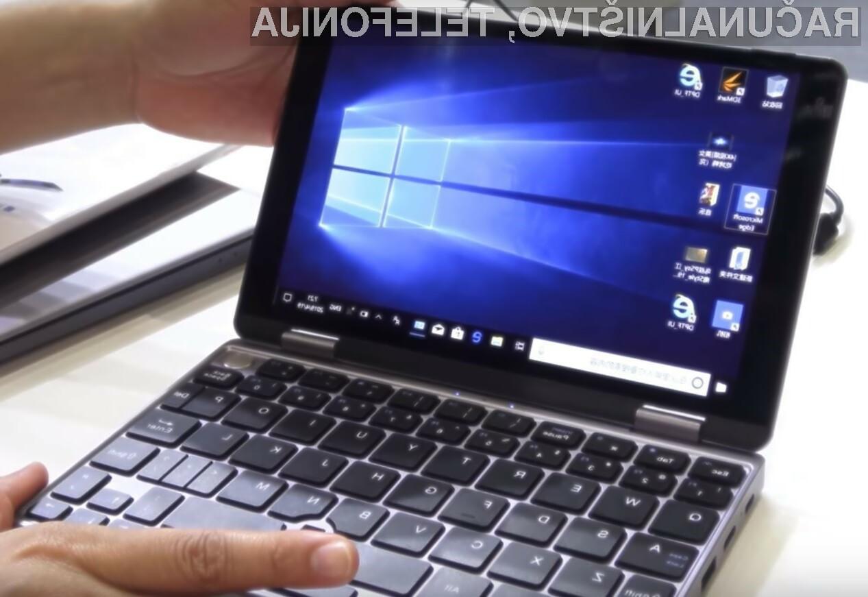 Miniaturni žepni računalnik Chuwi lahko uporabljamo praktično povsod.