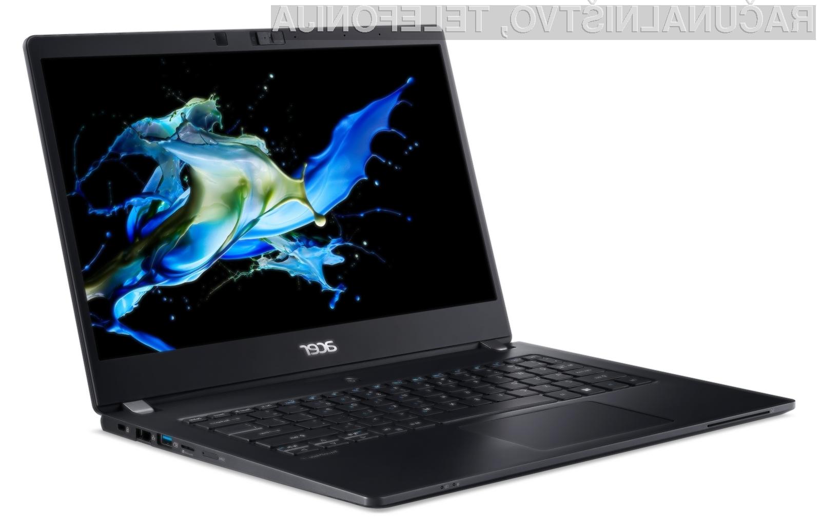 Kompaktni prenosni računalnik Acer TravelMate P6 bo zlahka kos tudi najzahtevnejšim nalogam.
