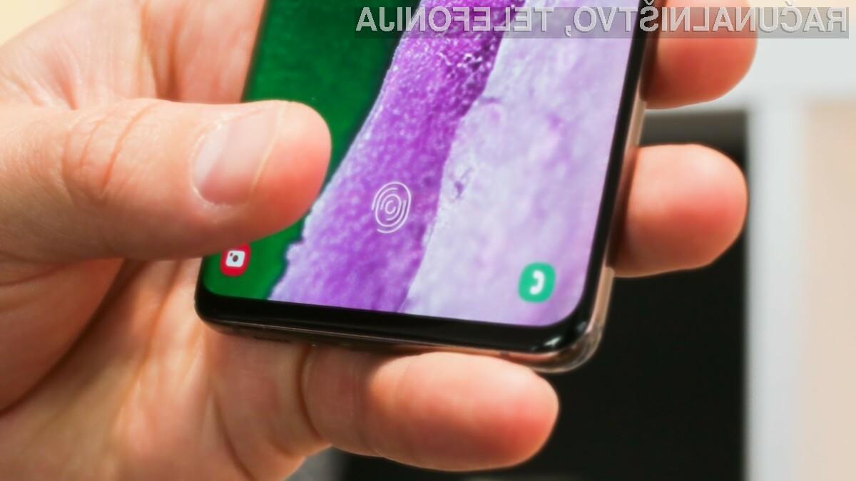 Prijava v pametni mobilni telefon Galaxy S10 bo po namestitvi posodobitve precej hitrejša.