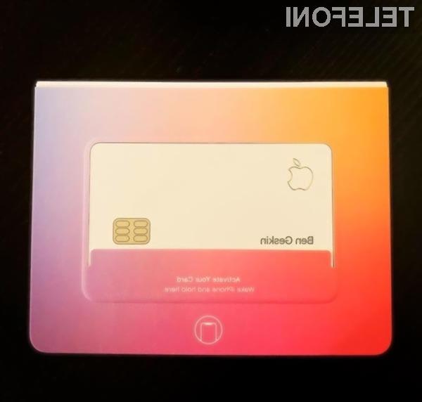 Kreditna kartica Apple Card bo resnično nekaj posebnega.