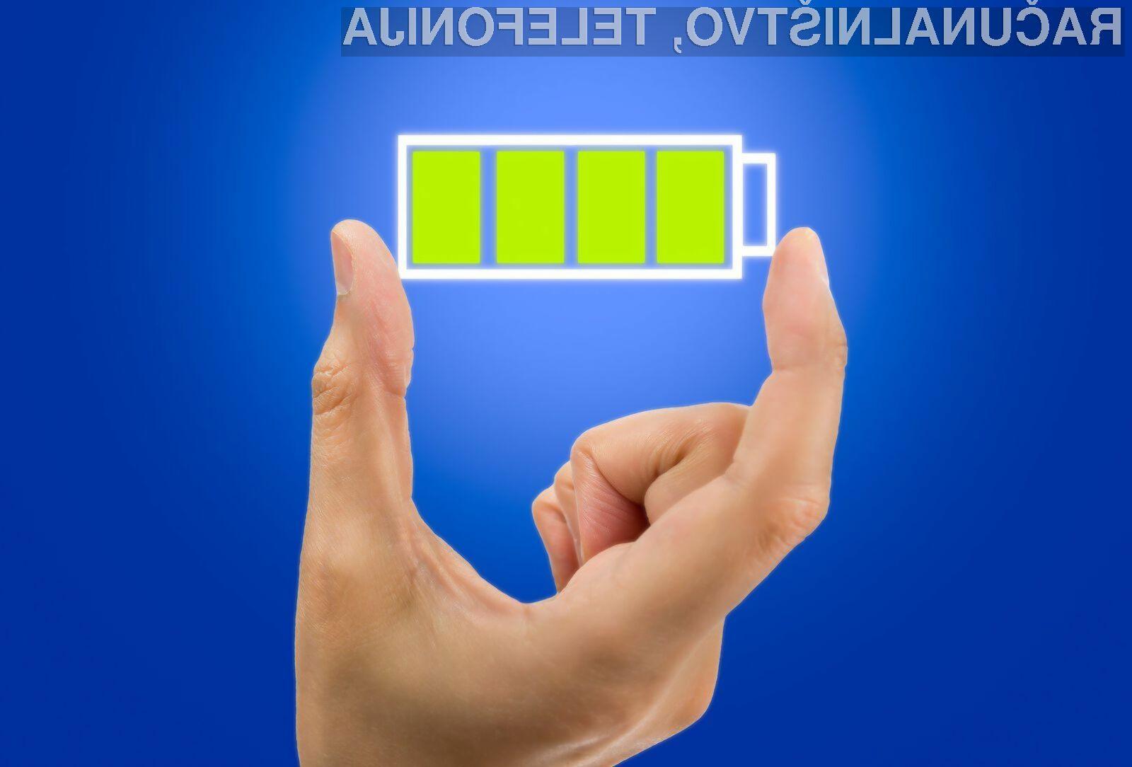 Z uporabo posebnih materialov je mogoče doseči, da se baterija med polnjenjem celo obnavlja.