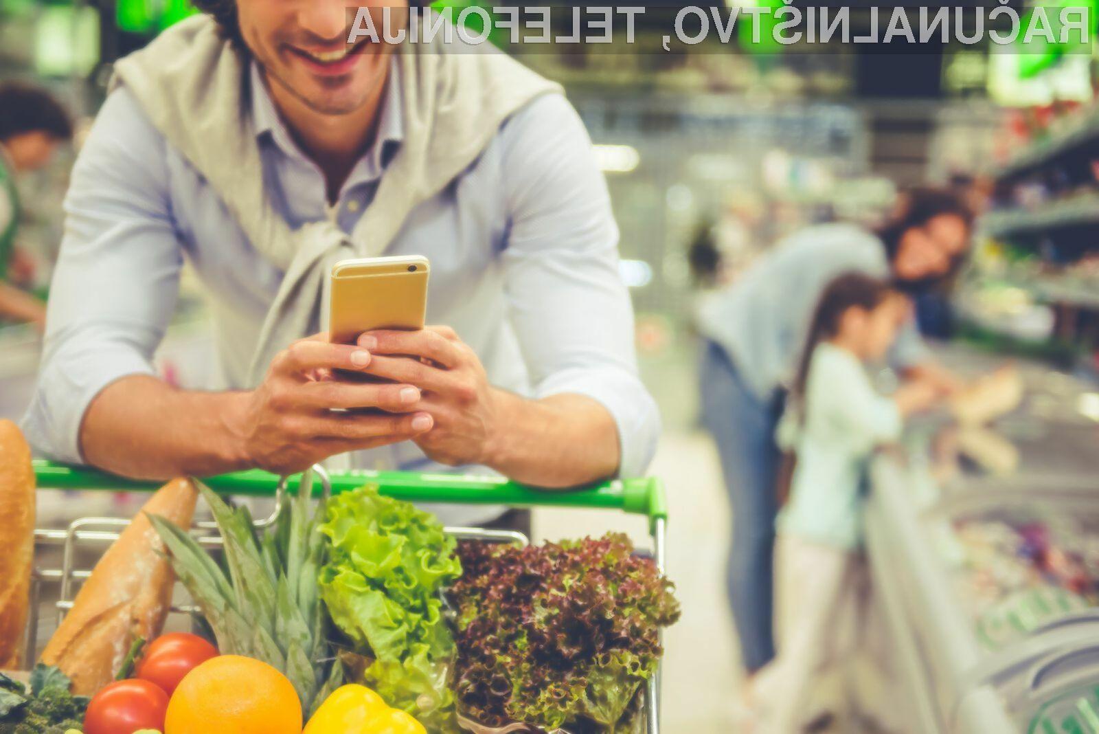 Uporaba pametnega mobilnega telefona v trgovini pogosto privede do tega, da kupimo tisto, kar nismo načrtovali.