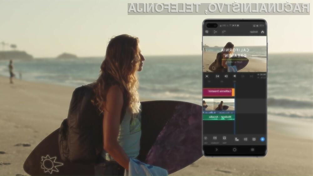Adobe Premiere Rush se najbolje obnese v navezi s pametnim mobilnim telefonom Samsung Galaxy S10.