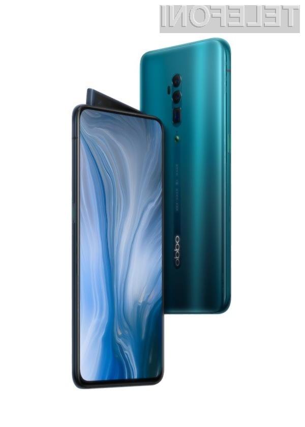 Pametni mobilni telefon Oppo Reno 10x Zoom je pisan na kožo zajemanju fotografij.