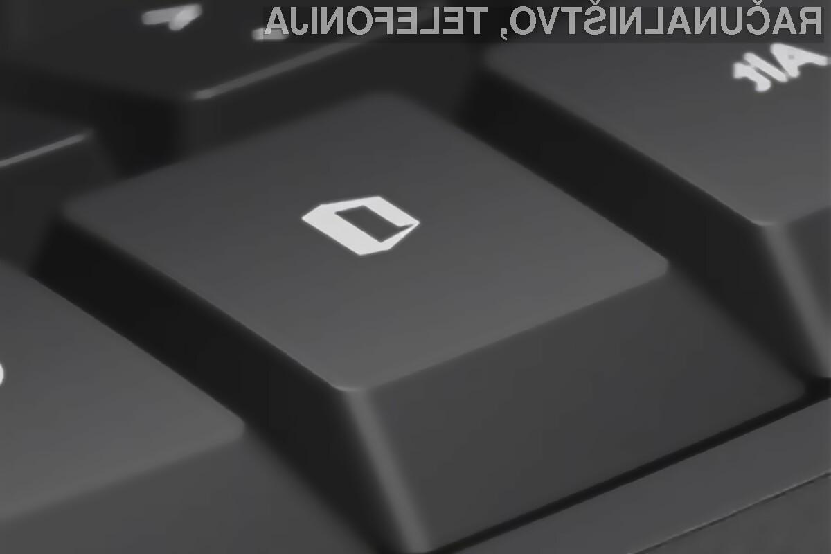S pritiskom na novo tipko »Office« naj bi se aktivirale dodatne funkcije v programih paketa Office.