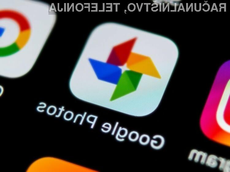 Storitev Google Foto (Google Photos) je bogatejša za možnost dodajanja klepeta.