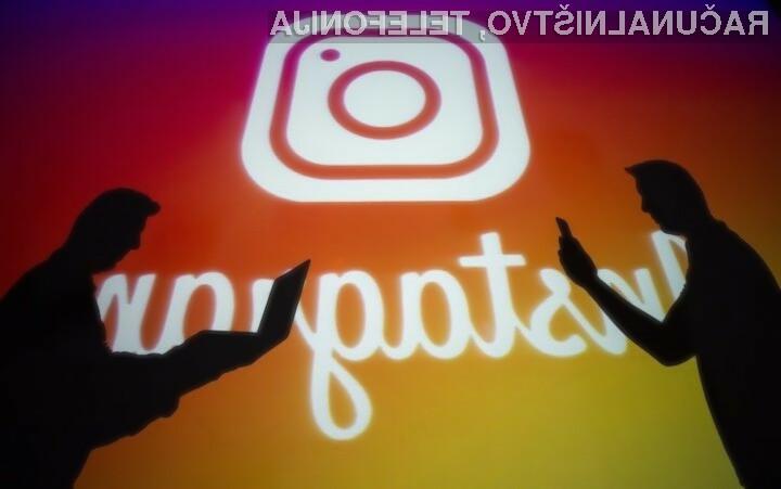 Instagram vas bo opozoril pred blokiranjem računa