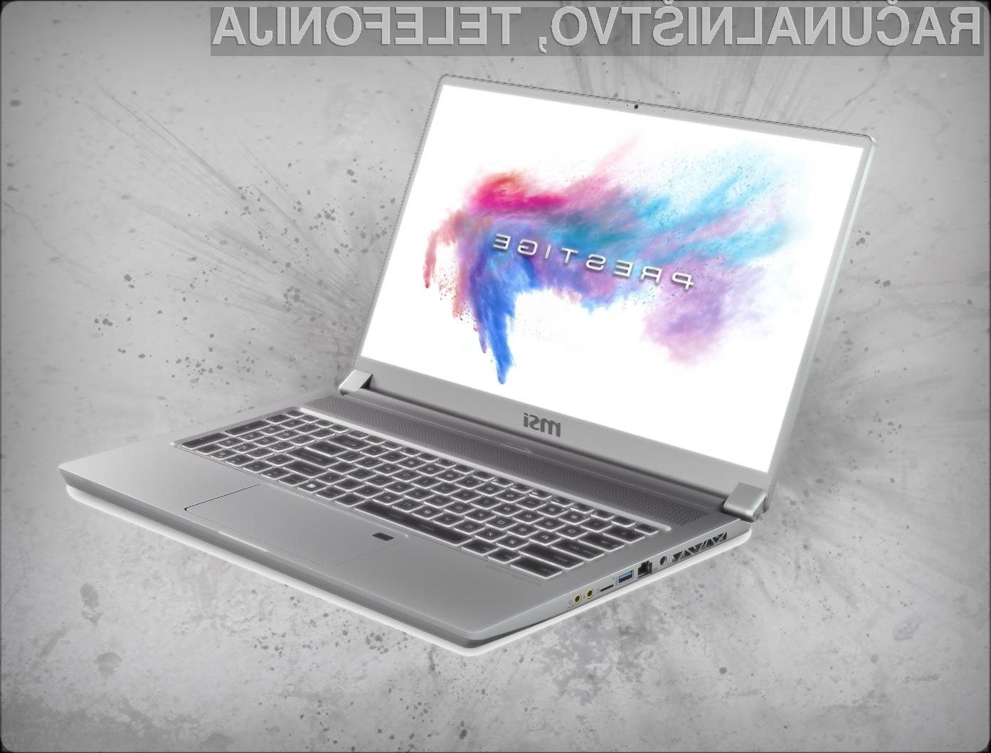 Prenosni računalnik MSI P75 Creator je namenjena ustvarjalnim uporabnikom in tistim, ki se želijo usmeriti v to področje.