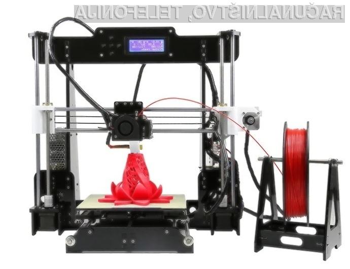 Nadgrajeni 3D tiskalnik Anet A8 za manj kot 96 evrov!