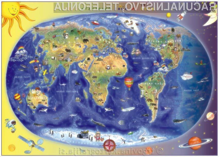 Otroška karta Sveta - Miha in Muri odkrivata Svet