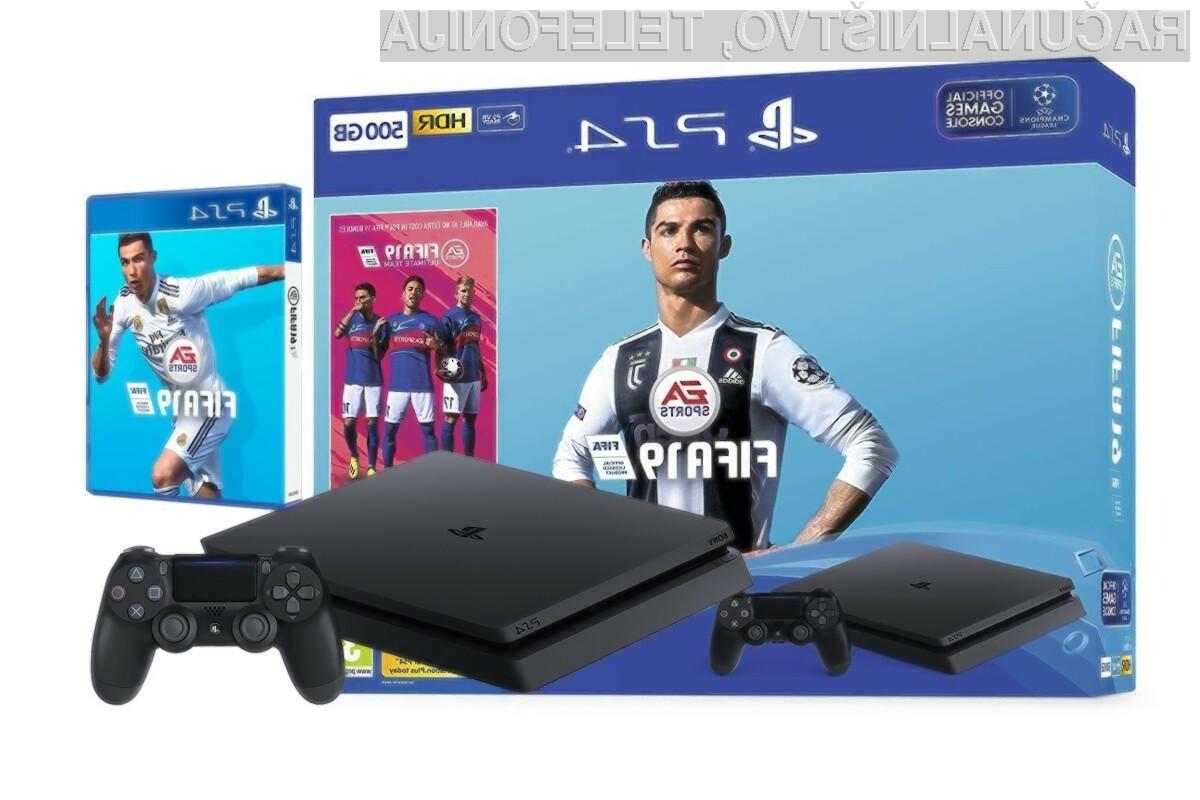 Igralna konzola PlayStation 4 500GB + FIFA19 – IZKLICNA CENA 1 €!