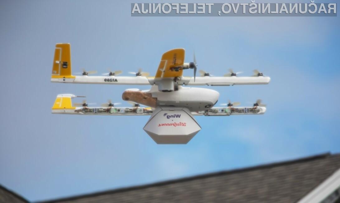 Redna dostava paketov z letečimi droni!