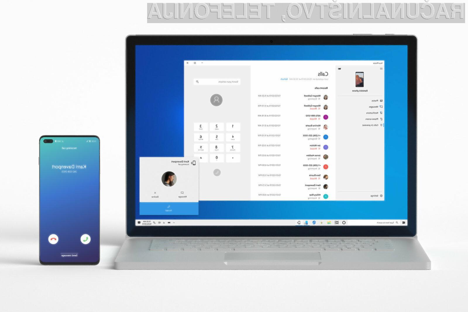 Novi Windows 10 bo še bolj povezan z mobilnimi napravami Android.