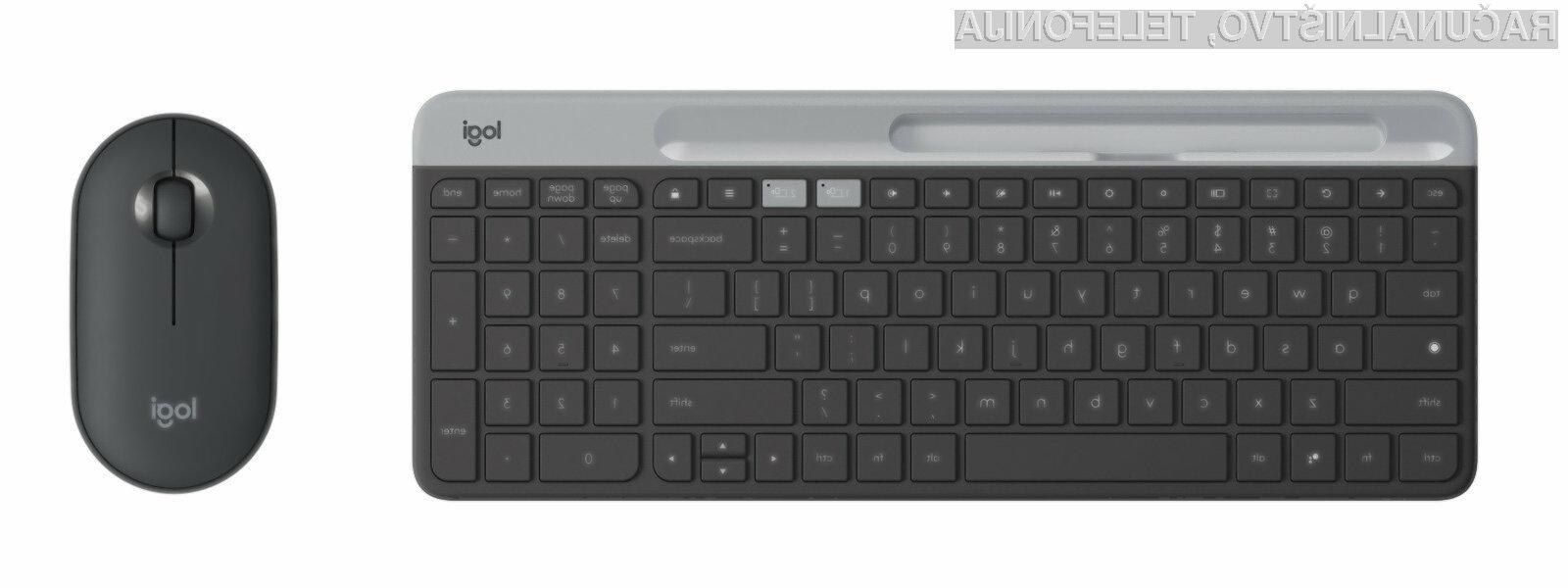 Nova tipkovnica in računalniška miška podjetja Logitech sta povsem prilagojeni operacijskemu Chrome OS.