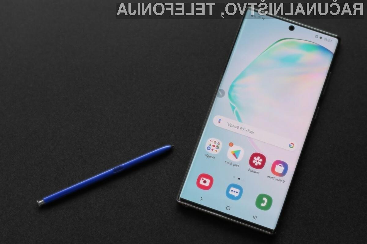 Novi Galaxy Note 10 Lite se bo po zmogljivosti lahko primerjal s telefonom družine Galaxy Note 9.