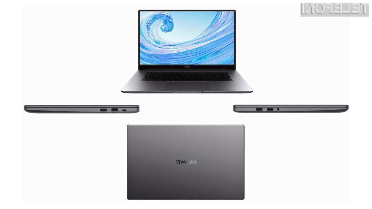 Prenosni računalnik Huawei MateBook 15 naj bi bil nekaj posebnega.