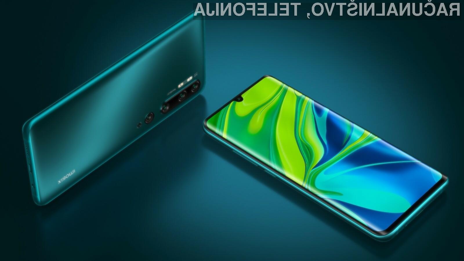 Pametna mobilna telefona Xiaomi Mi Note 10 in Mi Note 10 Pro sta kot prva opremljena s fotoaparatom ločljivosti 108 milijonov slikovnih točk.