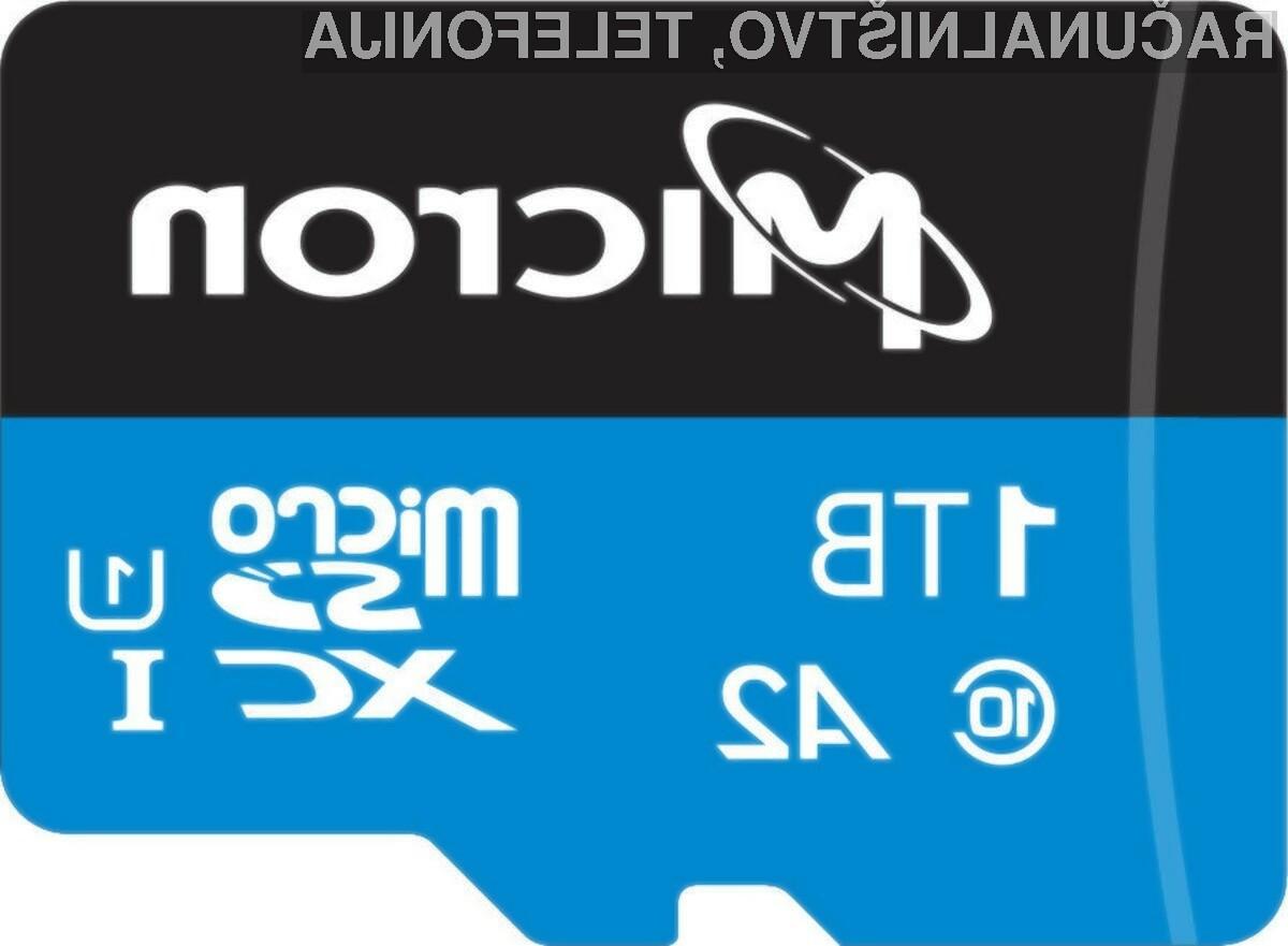 Pomnilniška kartica Micron i300 kapacitete enega terabajta bo namenjena predvsem profesionalcem in podjetjem.