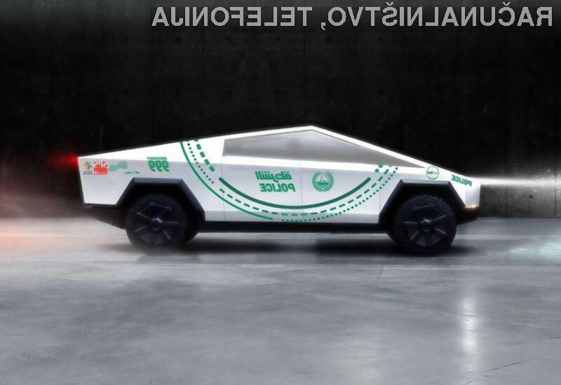 Prvi kiber poltovornjak podjetja Tesla je nadvse navdušil dubajsko policijo.