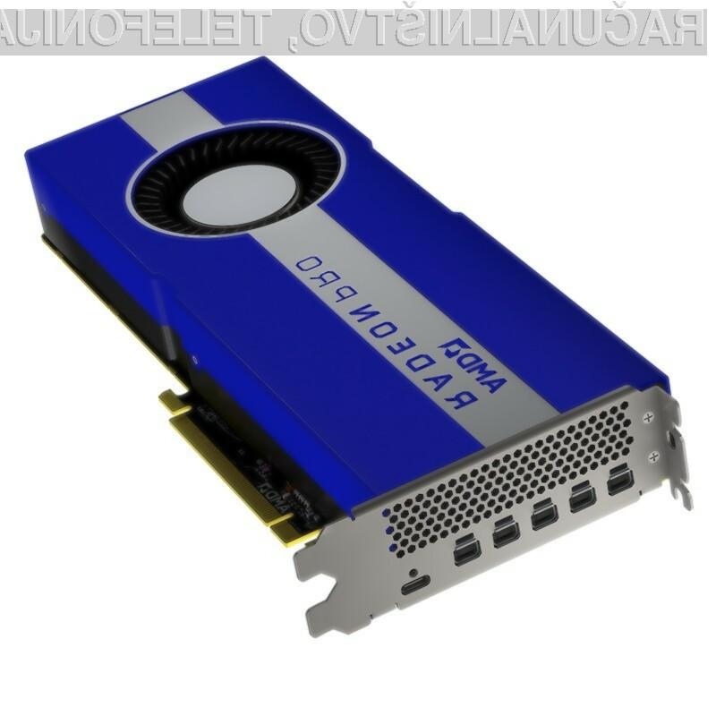Grafična kartica za delovne postaje AMD Radeon Pro W5700 bo kos tudi najzahtevnejšim nalogam.