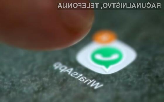 Nemudoma posodobite WhatsApp, sicer vam bo trda predla