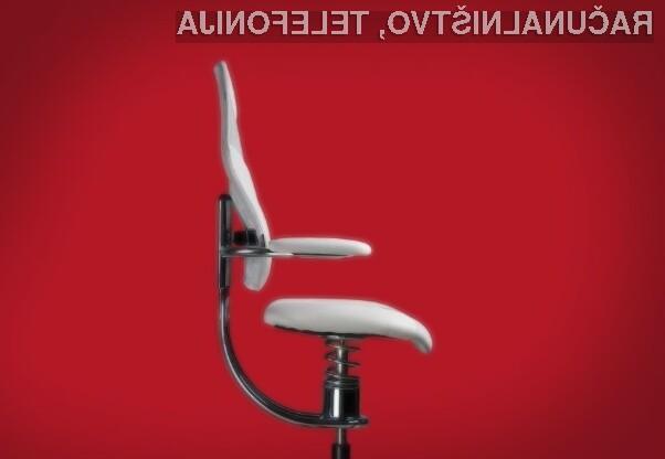 Stol, na katerem lahko sedite tako aktivno kot pasivno.