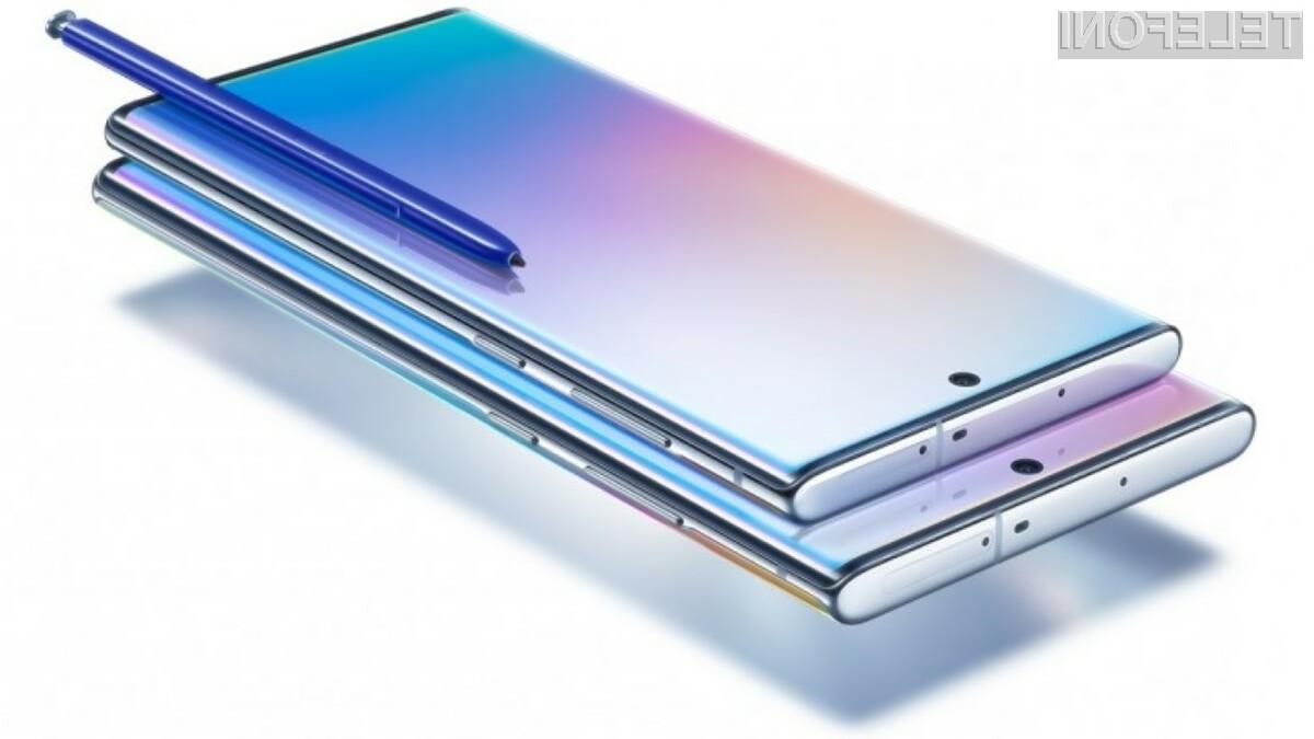 Novi Samsung Galaxy Note10 Lite naj bi bil kot nalašč za zajemanje sebkov.