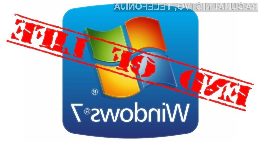 Windows 7 bo uporabnike še ostreje opozarjal na nujnost nadgradnje na novejši operacijski sistem.