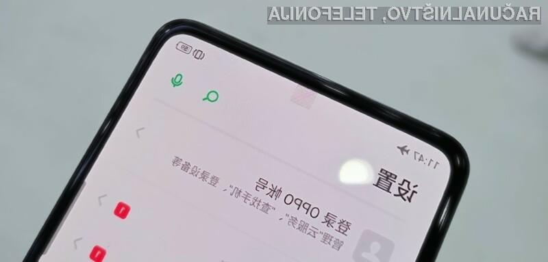 Inovativna spletna kamera pod zaslonom podjetja Oppo je navdušila mnoge!