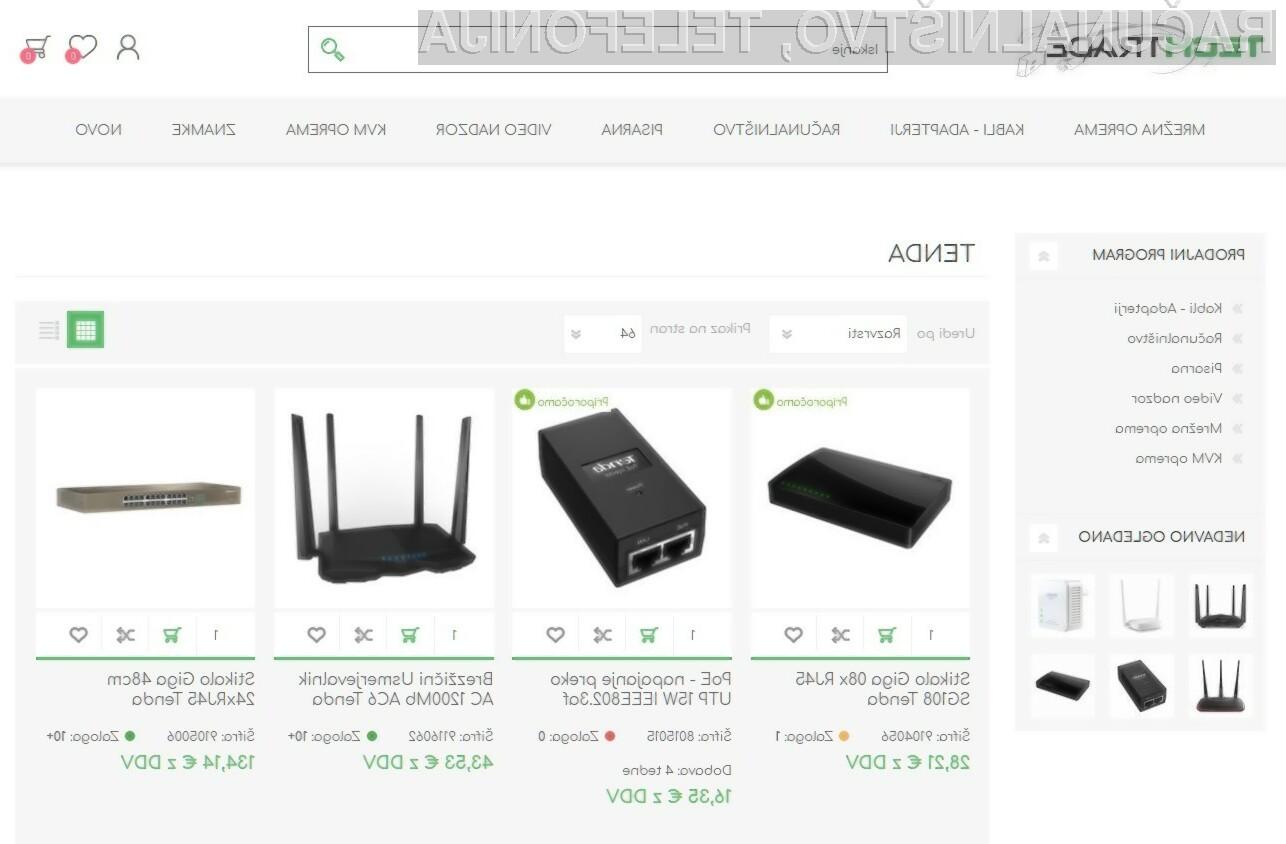 Akcija na izdelke Tenda s promo kodo TENDA2019.