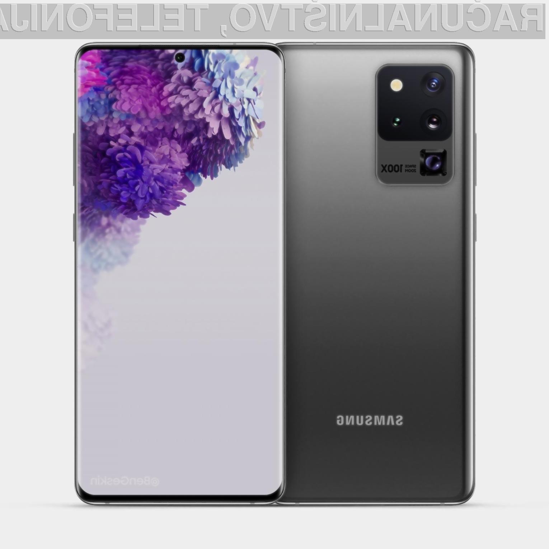 Samsung Galaxy S20 Ultra naj bi bil opremljen s fotoaparatom s kar 100-kratno povečavo.