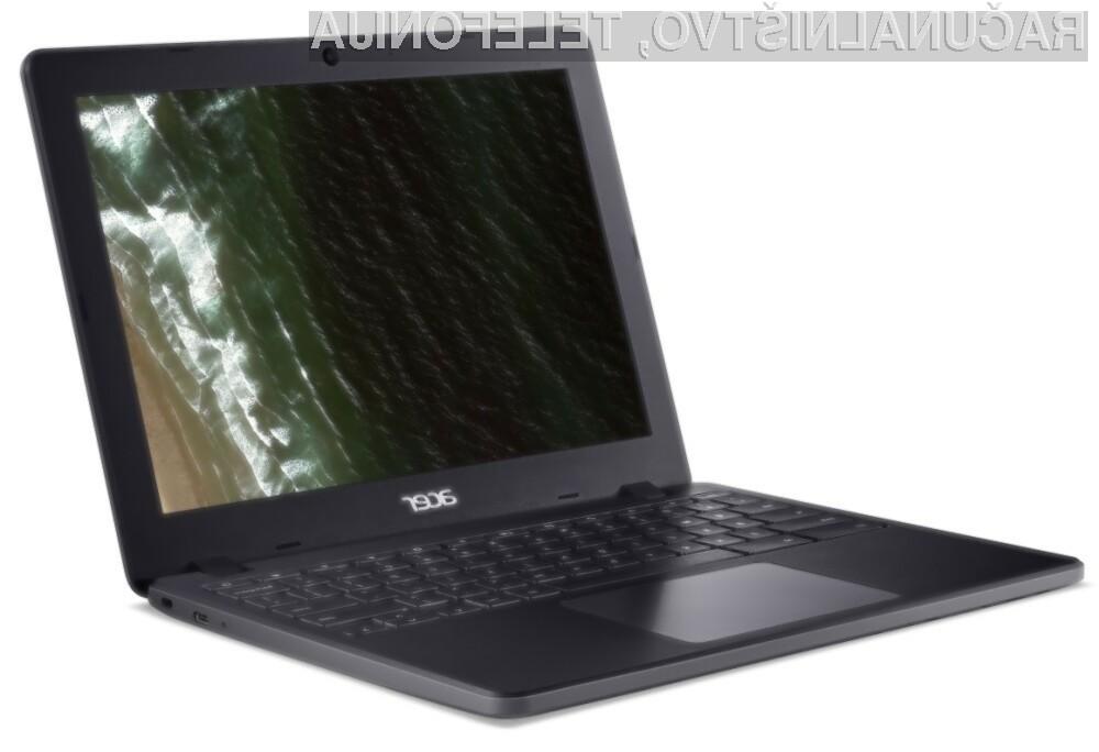 Nova prenosna računalnika Chromebook podjetja Acer sta namenjena predvsem učencem in učiteljem.