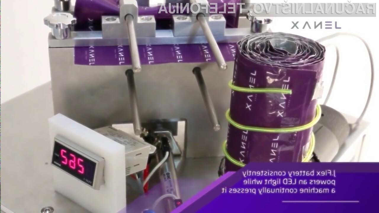 Prve naprave s prepogljivimi litij-ionskimi baterijami bi lahko na trg prispele že v začetku naslednjega leta.