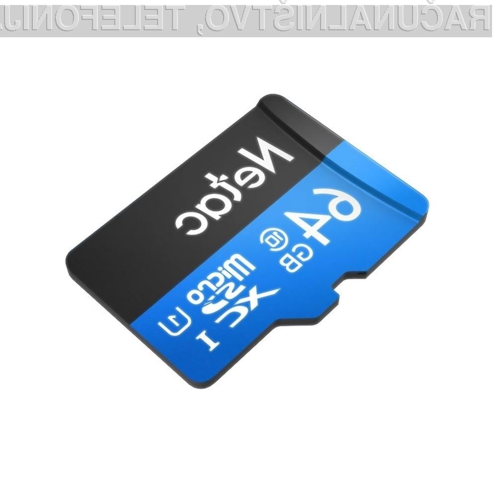 Zmogljiva pomnilniška kartica Netac P500 je lahko vaša že za 9,10 evrov!